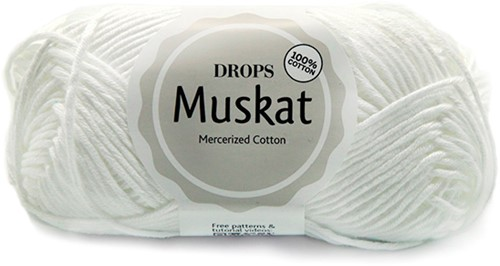 Drops Muskat Uni Colour 18 White