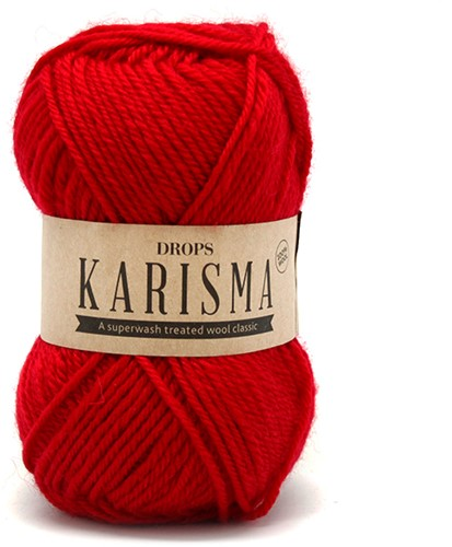 Drops Karisma Uni Colour 18 Red