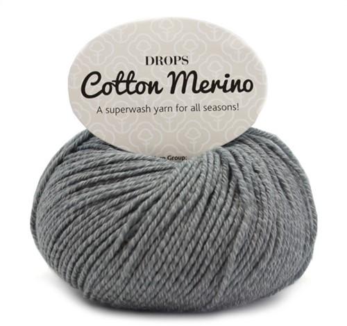 Drops Cotton Merino Uni Colour 18 Mittelgrau