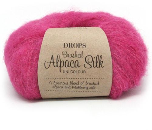 Drops Brushed Alpaca Silk Uni Colour 18 Cerise