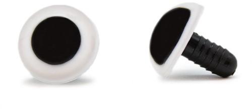Sicherheitsaugen Weiß 18mm 2 Stück