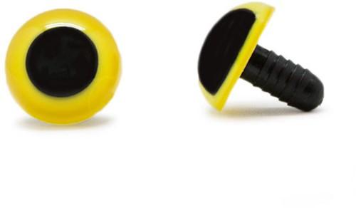 Sicherheitsaugen Gelb 18mm 2 Stück