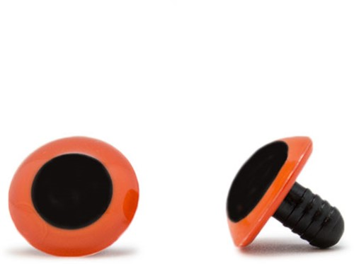 Sicherheitsaugen Orange 18mm 2 Stück