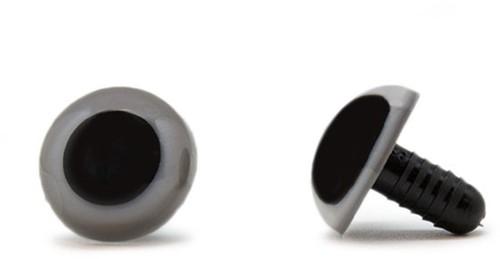 Sicherheitsaugen Grau 18mm 2 Stück