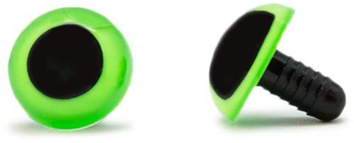 Sicherheitsaugen Grün 18mm 2 Stück