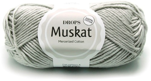 Drops Muskat Uni Colour 19 Light-grey