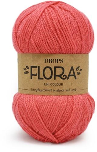 Drops Flora Uni Colour 19 Coral