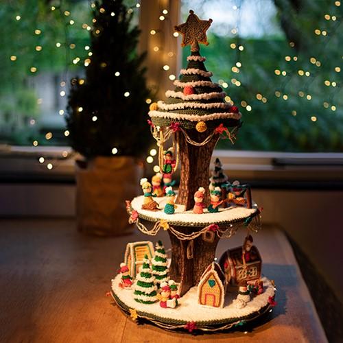 Weihnachtsdorf Etagère AdventsCAL Häkelpaket