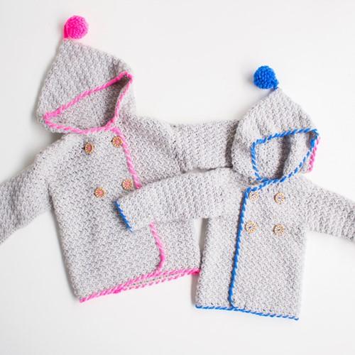 Häkelanleitung Jacke für Kinder