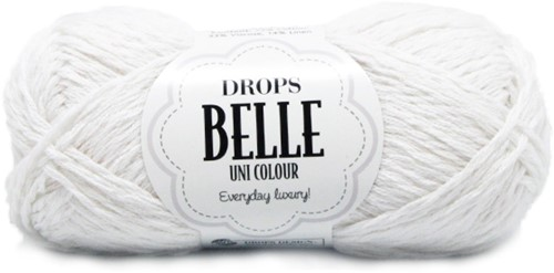 Drops Belle Uni Colour 01 White