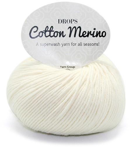 Drops Cotton Merino Uni Colour 1 Natur