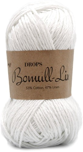 Drops Bomull-Lin Uni Colour 01 White