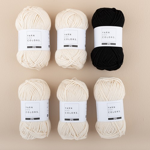 Yarn and Colors Streifenpullover Strickpaket 5 L Black