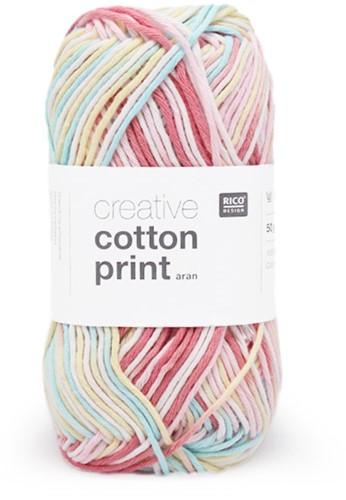 Rico Creative Cotton Aran Print 1 Pink Mix