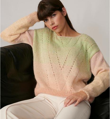 Strickanleitung Creative Cotton Dégradé Lucky 8 Pullover