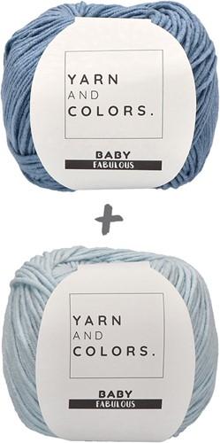 Babydecke Fabulous Gradient Häkelpaket 2 Blue