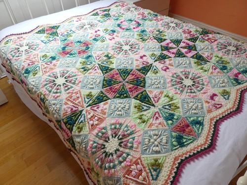 Kaleidoscope Decke CAL Garnpaket 2 Old Rose