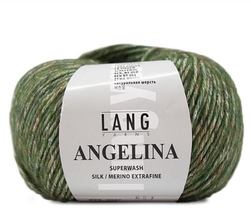Angelina Pullover Strickpaket 1 S/M Olive