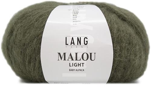 Malou Light Ajourpullover Strickpaket 1 L Olive