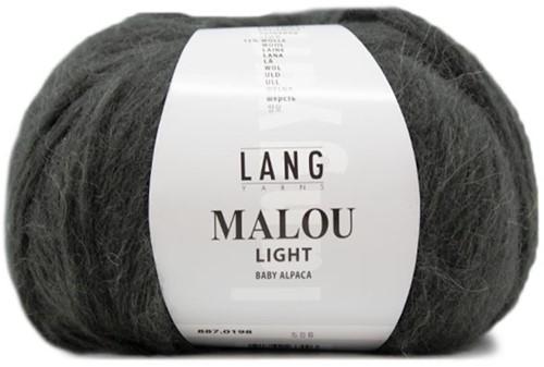 Malou Light Lange Jacke Strickpaket  1 L Dark Olive