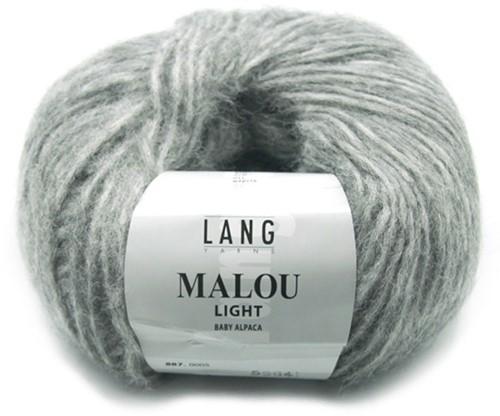 Malou Light Lange Jacke Strickpaket  2 L Grey