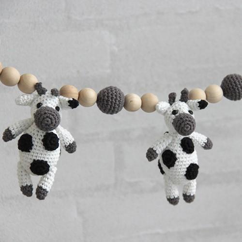 Go Handmade Häkelanleitung Kinderwagenkette Kuh