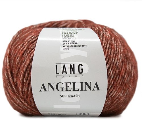 Angelina Krauspullover Strickpaket 1 S Rust