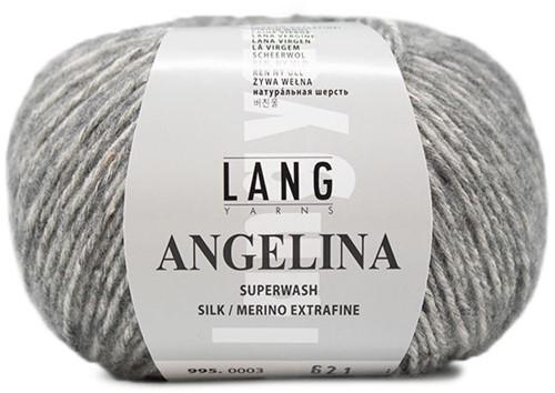 Angelina Krauspullover Strickpaket 2 S Light Grey