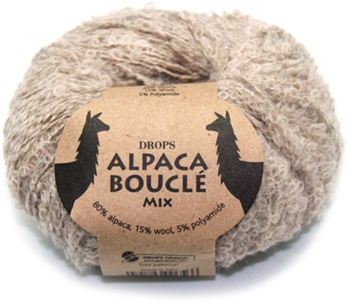 Drops Alpaca Bouclé Mix 2020 Hellbeige