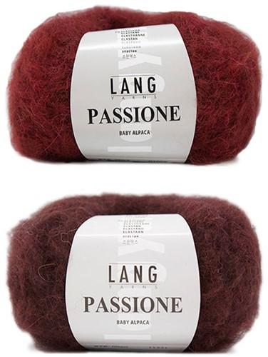 Passione Reversible Jacke Strickpaket 1 L/XL Aubergine / Red