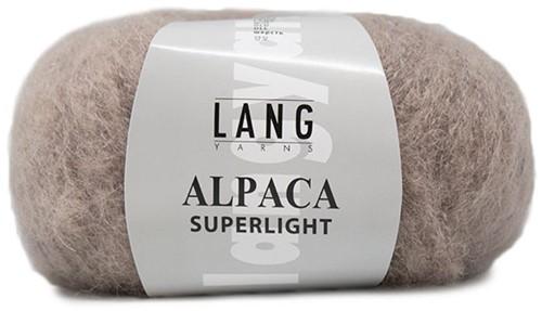Alpaca Superlight Ajourjacke Strickpaket 1 S Beige