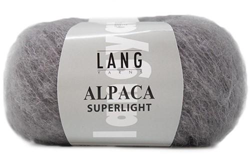 Alpaca Superlight Ajourjacke Strickpaket 2 XL Grey
