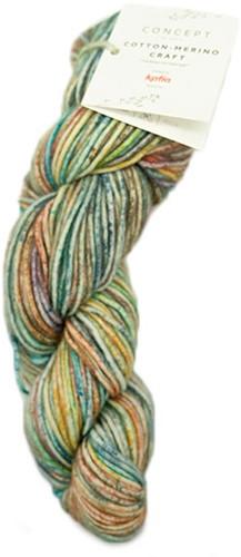 Katia Cotton Merino Craft 202 Blue / Yellow / Red
