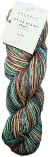 Katia Cotton Merino Craft 205 Green / Red / Grey