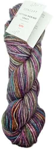 Katia Cotton Merino Craft 206 Lila / Pistache / Brown