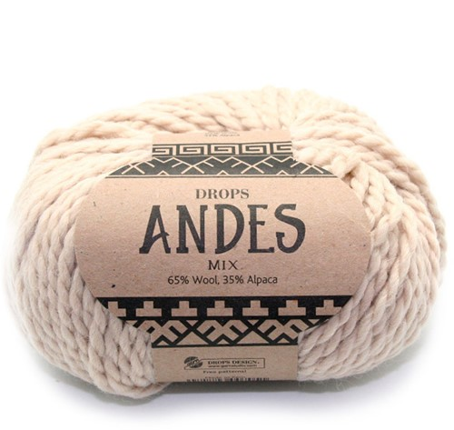 Drops Andes Mix 206 Hellbeige