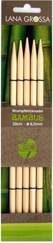 Lana Grossa 20cm Bambus Strumpfstricknadeln 6.5mm
