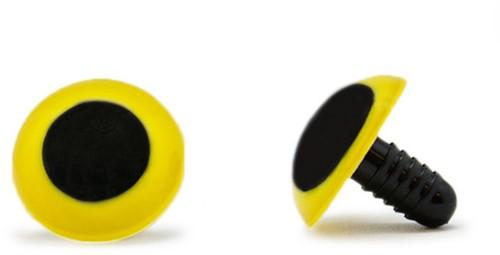 Sicherheitsaugen Gelb 20mm 2 Stück