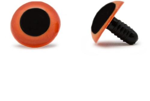 Sicherheitsaugen Orange 20mm 2 Stück