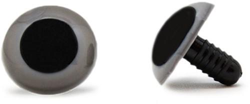 Sicherheitsaugen Grau 20mm 2 Stück