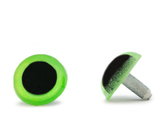 Sicherheitsaugen Grün 20mm 2 Stück