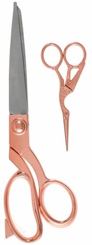 Milward Set Stoffschere (25cm) & Stoffschere (11,5cm) Rosé