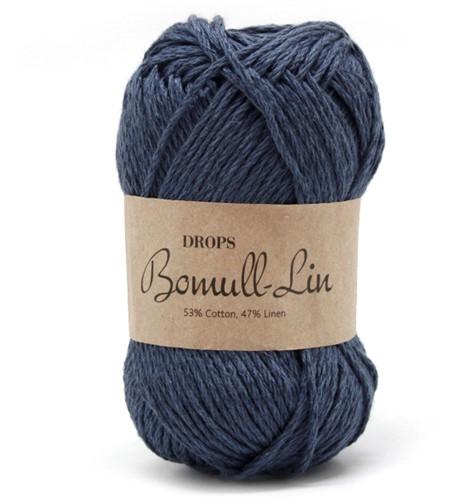 Drops Bomull-Lin Uni Colour 21 Dark-blue