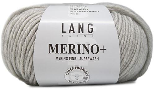 Lang Yarns Merino+ 223 Light Grey Mélange