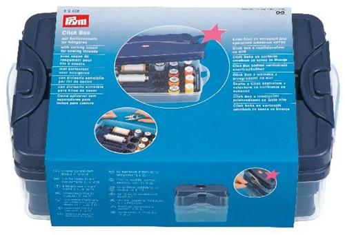 Prym Click Box mit Sortiereinsatz für Nähgarn (Kunststoff)