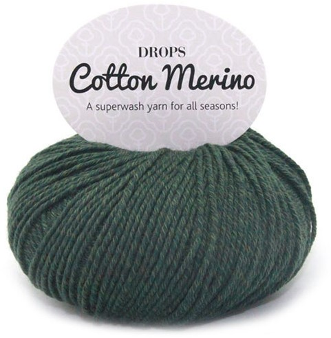 Drops Cotton Merino Uni Colour 22 Dunkelgrün