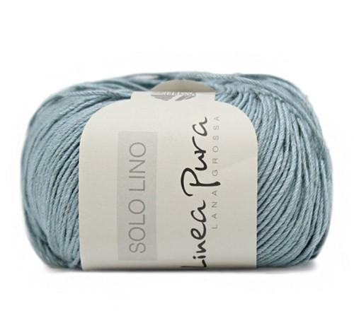 Lana Grossa Solo Lino 022 Turquoise/Grey