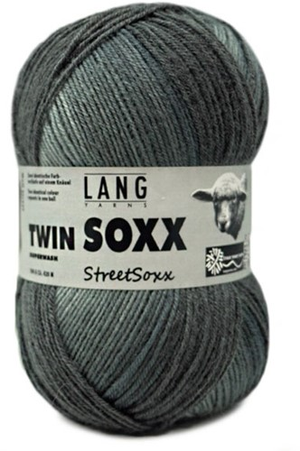 Lang Yarns Twin Soxx Streetsoxx 4-PLY 244 Grey Mix