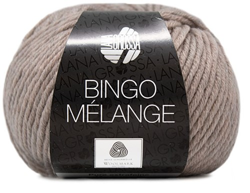 Lana Grossa Bingo Melange 252 Grey / Beige Mottled