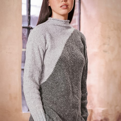 Wooladdicts Dark Side Pullover Strickpaket S